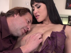 Insatiable brunette is fucking her married neighbor