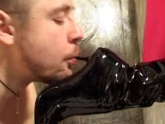 Mature dominatrix trampling & foot dominating young couple that hired her