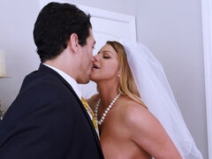Horny MILF fucks her future stepson just before wedding
