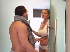 Thick MILF fucks her stepson in the shower
