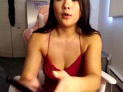 Dildo cam show - big natural tits and hairy pussy on webcam