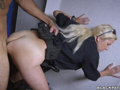 Officer Maggie Green & Her Partners Are Layin' Down The Law - interracial foursome hardcore