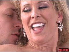 Sultry MILF Enjoys Big Dick Of Prankish Youngster