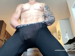 ambisexual Muscle grizzly Jock Lycra Spandex Live Onlyfans exercise & Flexing