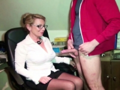 German Sexually available mom Seduce Young Boy to Fuck on Work in Office