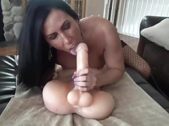 Eager mom Takes Big Toy and furthermore Fucks Bum