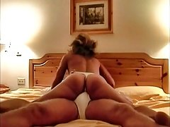 Lady dry humping in thong