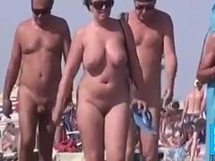 walkers on undressed beach amateur