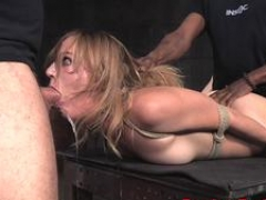Squirting sub chick fucked after deepthroating