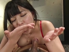 Asiatic Takes An Oral Sticky creampie Plays And besides Swallows