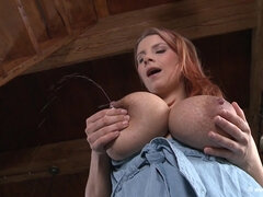 Katerina Hartlova Plays With Her Lactating Tits