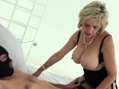 British Sonia lets one of her biggest fans have an intercourse her MILF