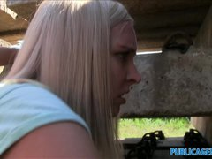 PublicAgent Outdoor making love with a sexy blonde