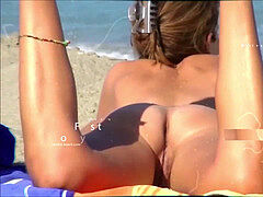 slick shaved pussy beach milfs close-up spyweb cam spy cam