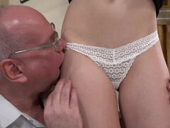 Anya Krey get seduced into hardcore sex with her old perv professor