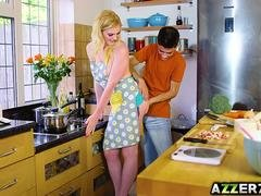 Pretty Carly Rae has an intercourse with bf in the kitchen