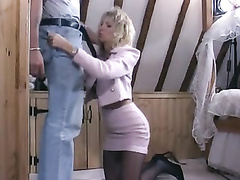 Misty mccain gets pummeled in dark-hued nylons